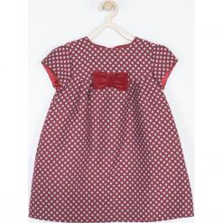 Sukienka. Czerwone sukienki dziewczęce marki Minimi, w grochy, z satyny, eleganckie. Za 145,00 zł.