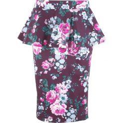 Spódniczki: Spódnica z baskinką, z kolekcji Maite Kelly bonprix czarny bez w kwiaty