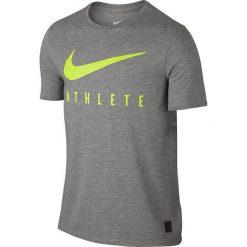 Nike Koszulka męska DB Mesh Swoosh Athlete Tee szara r. L (806377 063). Szare koszulki sportowe męskie Nike, l, z meshu. Za 101,74 zł.