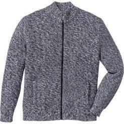 Kardigany męskie: Sweter rozpinany Regular Fit bonprix czarny melanż