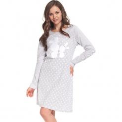 Koszula nocna w kolorze szarym. Białe koszule nocne i halki Doctor Nap, w kropki. W wyprzedaży za 67,95 zł.