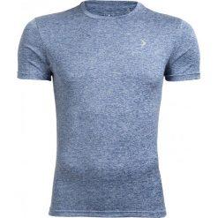 Koszulka treningowa męska TSMF600 - granatowy melanż - Outhorn. Niebieskie odzież termoaktywna męska Outhorn, m, melanż, z materiału. W wyprzedaży za 29,99 zł.