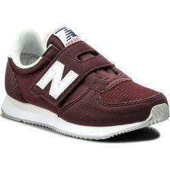 Sneakersy NEW BALANCE - KV220CDY Bordowy. Czerwone trampki chłopięce marki New Balance, z materiału, na rzepy. W wyprzedaży za 169,00 zł.
