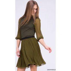 Spodnica POLLUX CT Khaki. Brązowe spódniczki dziewczęce z falbankami Pakamera. Za 396,00 zł.