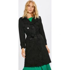 Answear - Płaszcz. Szare płaszcze damskie pastelowe ANSWEAR, l, w paski, z materiału, klasyczne. W wyprzedaży za 169,90 zł.