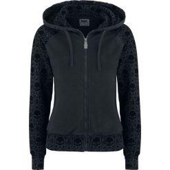 Bluzy rozpinane damskie: Black Premium by EMP Don't Pray For Me Bluza z kapturem rozpinana damska czarny