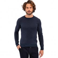 Sweter w kolorze granatowym. Niebieskie swetry klasyczne męskie marki GALVANNI, l, z okrągłym kołnierzem. Za 219,95 zł.