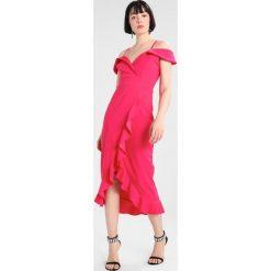 Sukienki hiszpanki: WAL G. COLD SHOULDER RUFFLE WRAP DRESS Sukienka koktajlowa pink