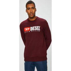Diesel - Bluza. Brązowe bluzy męskie rozpinane Diesel, l, z aplikacjami, z bawełny, bez kaptura. Za 569,90 zł.