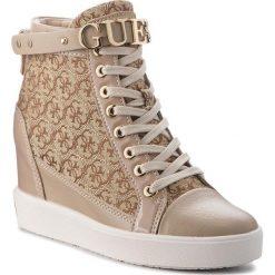 Sneakersy GUESS - FLFRY3 FAL12 BEIBR. Czarne sneakersy damskie marki Guess, z materiału. Za 769,00 zł.