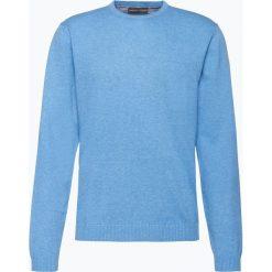 Finshley & Harding - Sweter męski – Pima-Cotton/Kaszmir, niebieski. Czarne swetry klasyczne męskie marki Finshley & Harding, w kratkę. Za 229,95 zł.