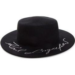 Kapelusz KARL LAGERFELD - 86KW3413  Black 999. Czarne kapelusze damskie KARL LAGERFELD, z materiału. Za 569,00 zł.