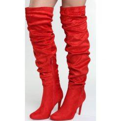 Buty zimowe damskie: Czerwone Kozaki Figment