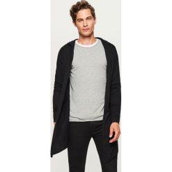 Długi sweter z kapturem - Czarny - 2