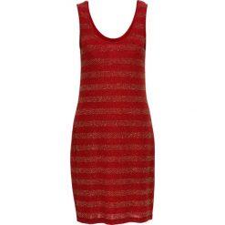 Sukienki: Sukienka z dżerseju z połyskiem bonprix czerwono-złoty