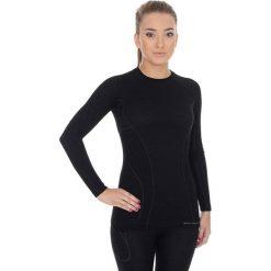 Bluzki sportowe damskie: Brubeck Koszulka damska z długim rękawem Active Wool czarna r. M (LS12810)