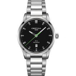 RABAT ZEGAREK CERTINA DS 2 Gent Precidrive C024.410.11.051.20. Czarne zegarki męskie CERTINA, ze stali. W wyprzedaży za 1443,20 zł.