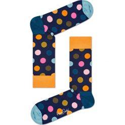 Happy Socks - Skarpetki Big Dot. Niebieskie skarpetki damskie Happy Socks, z bawełny. Za 39,90 zł.