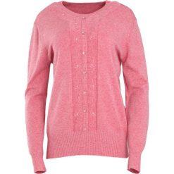 Łososiowy Sweter Reveal of My Heart. Czerwone swetry klasyczne damskie marki Born2be, l, z okrągłym kołnierzem. Za 59,99 zł.