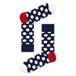 Skarpety Happy Socks Big Dots (BD01-608). Białe skarpetki męskie marki Happy Socks, z bawełny. Za 23,99 zł.