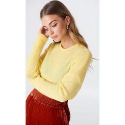 NA-KD Luźny melanżowy sweter z dzianiny - Yellow. Niebieskie swetry oversize damskie marki NA-KD, z satyny. Za 121,95 zł.