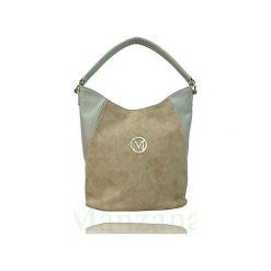 MANZANA TORBA GWIAZD WOREK - BEŻOWY ZAMSZ. Brązowe torebki klasyczne damskie Manzana, w paski, z materiału, duże, zamszowe. Za 79,00 zł.