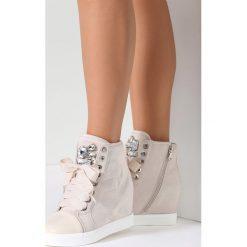 Sneakersy damskie: Beżowe Sneakersy Kassi