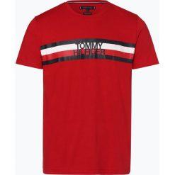 Tommy Hilfiger - T-shirt męski, czerwony. Szare t-shirty męskie z nadrukiem marki TOMMY HILFIGER, z bawełny. Za 139,95 zł.