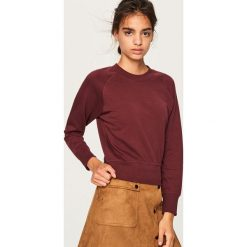 Bluza z bawełny organicznej - Bordowy. Czerwone bluzy damskie marki Reserved, l, z bawełny. Za 49,99 zł.