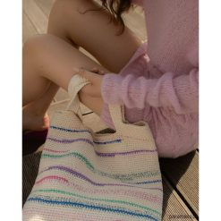 Szydełkowa torba typu shopper. Szare shopper bag damskie Pakamera, z bawełny. Za 459,00 zł.