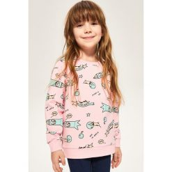 Bluza z nadrukiem - Różowy. Czerwone bluzy dziewczęce rozpinane marki Reserved, z nadrukiem. W wyprzedaży za 24,99 zł.