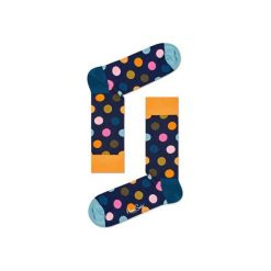 Skarpetki Happy Socks - Big Dot (BDO01-6006). Szare skarpetki męskie Happy Socks, w kolorowe wzory, z bawełny. Za 34,90 zł.