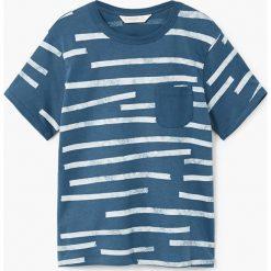Mango Kids - T-shirt dziecięcy Casual 110-164 cm. Szare t-shirty chłopięce marki Mango Kids, z bawełny, z okrągłym kołnierzem. W wyprzedaży za 19,90 zł.
