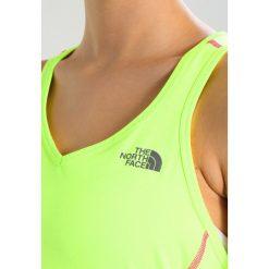 The North Face AMBITION TANK  Koszulka sportowa dayglow yellow. Różowe topy sportowe damskie marki The North Face, m, z nadrukiem, z bawełny. Za 149,00 zł.