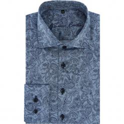 Koszula RICCARDO 16-04-30-K. Niebieskie koszule męskie Giacomo Conti, m, paisley, z bawełny, z włoskim kołnierzykiem. Za 299,00 zł.