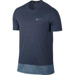 Nike Koszulka męska Brthe Top SS szaro-niebieska r. XL (833608 471). Niebieskie koszulki sportowe męskie Nike, m. Za 95,01 zł.
