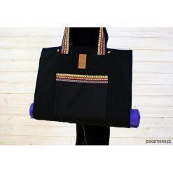 Torba na akcesoria do jogi/Indian pattern #2. Szare torebki klasyczne damskie Pakamera, z tkaniny, duże. Za 239,00 zł.