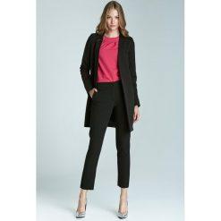 Rurki damskie: Czarne Klasyczne Wąskie Spodnie Cygaretki