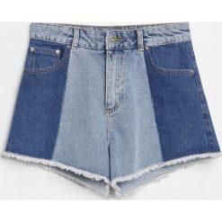 Szorty z wysokim stanem - Niebieski. Niebieskie szorty damskie marki Reserved, z podwyższonym stanem. W wyprzedaży za 59,99 zł.