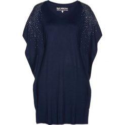 Tunika shirtowa bonprix ciemnoniebieski. Niebieskie tuniki damskie bonprix. Za 79,99 zł.