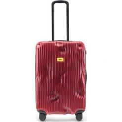 Walizka Stripe średnia Alfa Red. Szare walizki marki Crash Baggage, z materiału. Za 1225,00 zł.