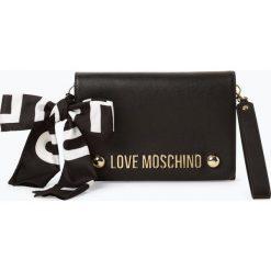Love Moschino - Kopertówka damska, czarny. Czarne puzderka Love Moschino, z nadrukiem, z nadrukiem. Za 619,95 zł.