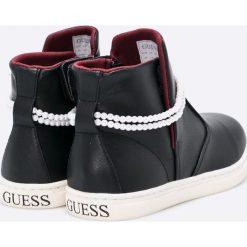 Guess Jeans - Trampki. Niebieskie buty sportowe dziewczęce marki Guess Jeans, z obniżonym stanem. W wyprzedaży za 219,90 zł.