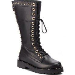 Kozaki TWINSET - Anfibio CA8PLY Nero 00006. Czarne buty zimowe damskie Twinset, ze skóry, przed kolano, na wysokim obcasie. Za 1539,00 zł.