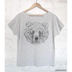 Bluzki, topy, tuniki: MIŚ koszulka bawełniana szara z nadrukiem