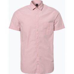 Koszule męskie na spinki: BOSS Casual – Koszula męska – Cattitude_1-short, różowy