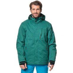 """Kurtka narciarska """"Pari"""" w kolorze zielonym. Zielone kurtki męskie KILLTEC, m. W wyprzedaży za 282,95 zł."""