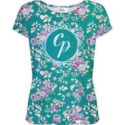 Colour Pleasure Koszulka damska CP-034 261 różowo-zielona r. XS/S. Bluzki asymetryczne Colour pleasure, s. Za 70,35 zł.
