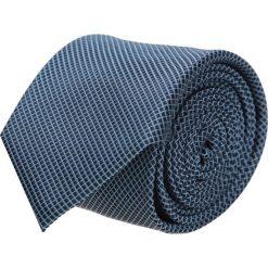 Krawaty męskie: krawat platinum granatowy classic 211