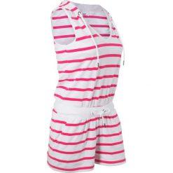 Kombinezony damskie: Kombinezon, krótkie nogawki bonprix biało-różowy hibiskus